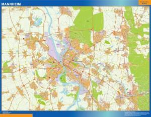 mannheim wall map