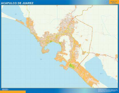 mapa Acapulco de Juarez