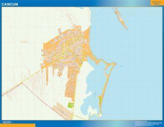 mapa Cancun