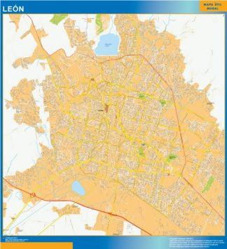 mapa Leon centro