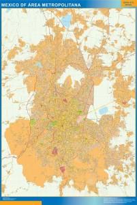mapa Mexico distrito federal