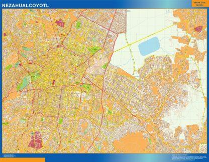 mapa Nezahualcoyotl
