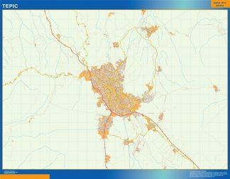 mapa Tepic