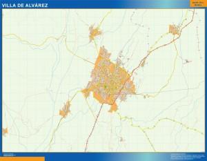 mapa Villa de Alvarez