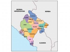montenegro presentation map