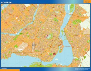 montreal wall map