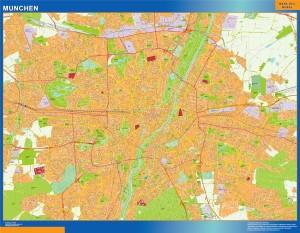munchen wall map