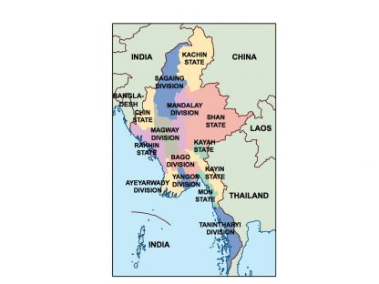 myanmar presentation map