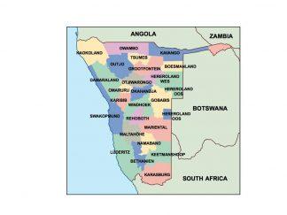 namibia presentation map