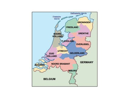 netherlands presentation map