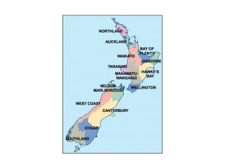 new zealand presentation map