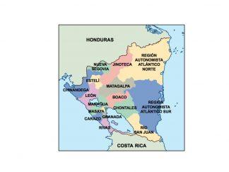 nicaragua presentation map