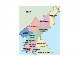 north korea presentation map