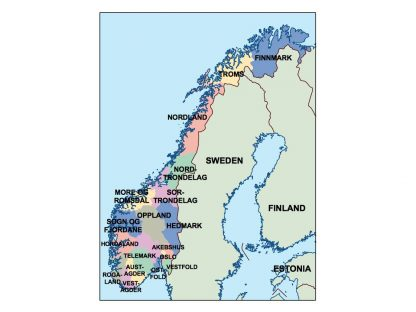 norway presentation map
