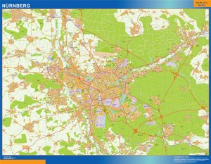 nurnberg wall map