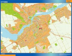 ottawa wall map