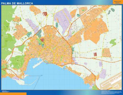 palma mallorca wall map