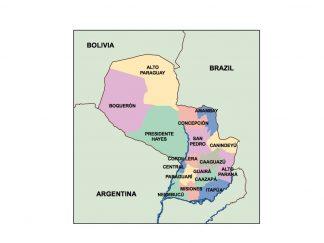 paraguay presentation map