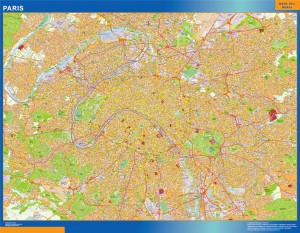 paris wall map