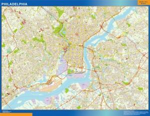 philadelphia wall map