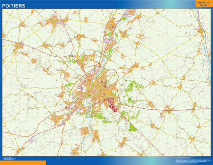 poitiers wall map