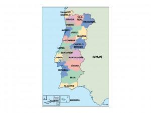 portugal presentation map