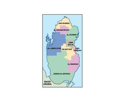 qatar presentation map
