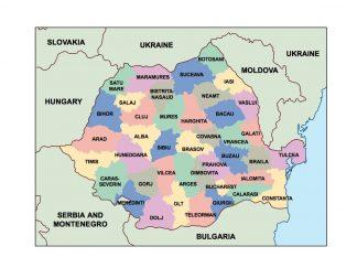 romania presentation map