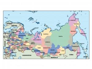 russia presentation map