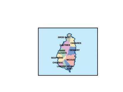 saint lucia presentation map