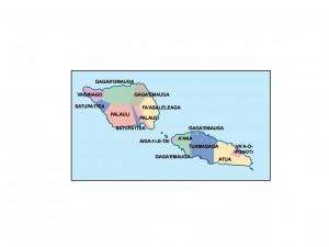samoa presentation map
