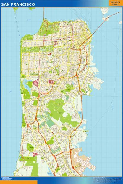 san francisco wall map