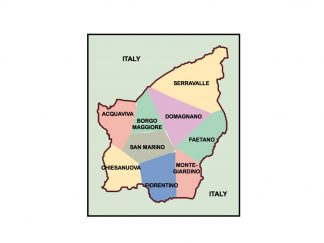 san marino presentation map