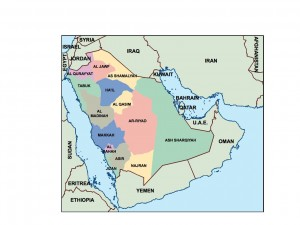 saudi arabia presentation map