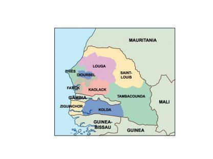 senegal presentation map