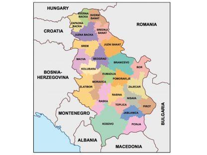 serbia presentation map