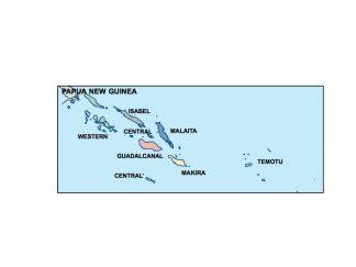 solomon islands presentation map