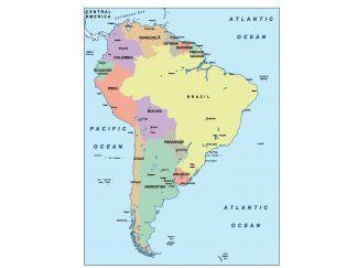 south america presentation map