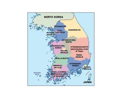 south korea presentation map
