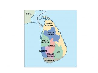 sri lanka presentation map