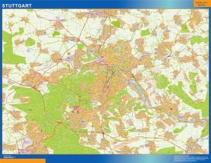 stuttgart wall map