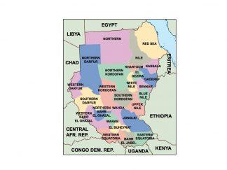sudan presentation map