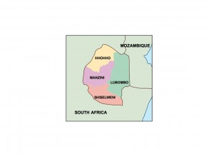 swaziland presentation map