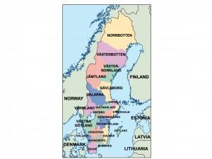 sweden presentation map