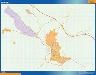 teruel wall map
