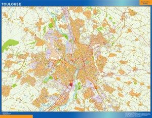 toulouse wall map