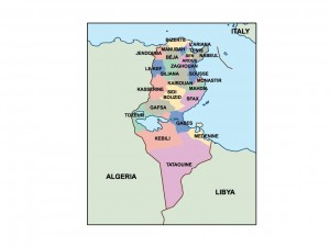 tunisia presentation map