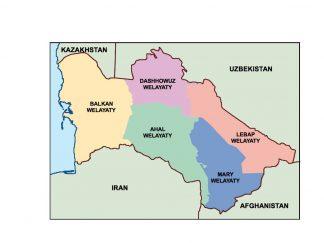 turkmenistan presentation map