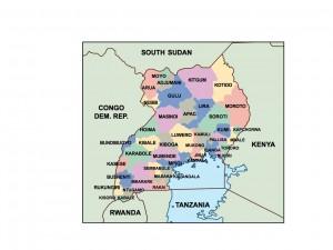 uganda presentation map
