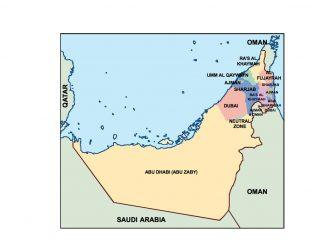 united arab emirates presentation map